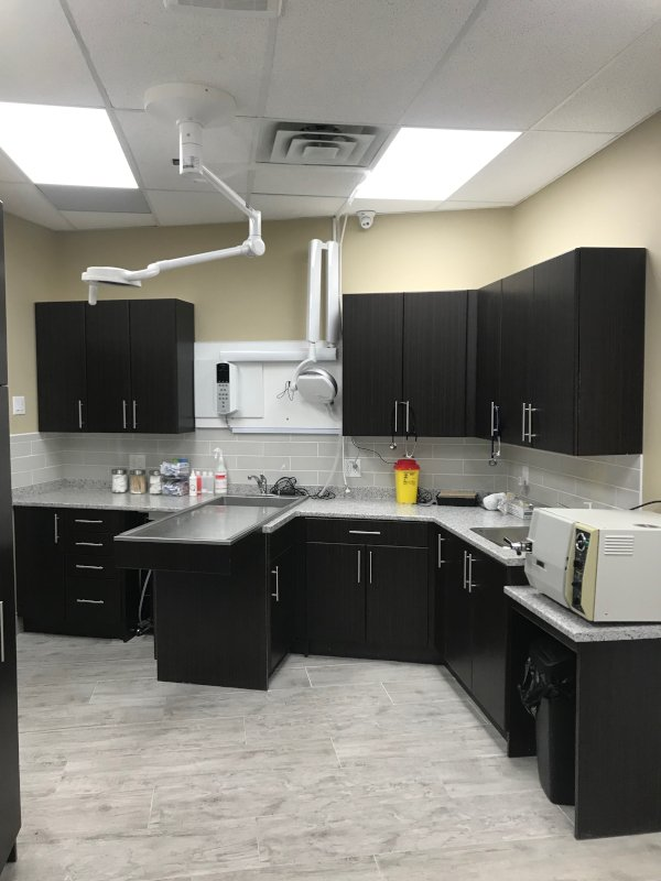 The back exam room